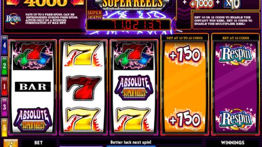 Absolute Super Reels Online Video Slots